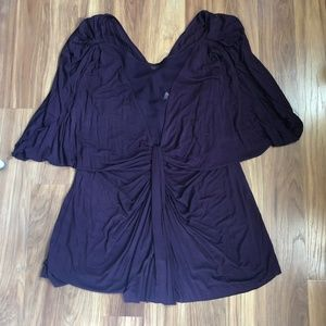 Anthropologie Burgundy tunic (XL)